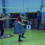 Šimíček a jeho kroj, rituální tanec, povšimněte si medaile :D
